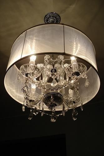 miscellaneous - lighting, drum shade, chandelier, Chandelier from ...