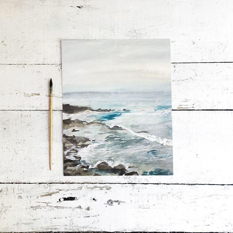 Ocean Watercolor Free Printable Free Printable Artwork Free Art