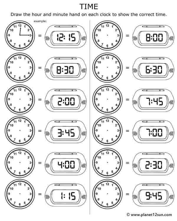 Printable Time Worksheet Time Worksheets Telling Time Worksheets 3rd Grade Math Worksheets Math worksheets time grade 2