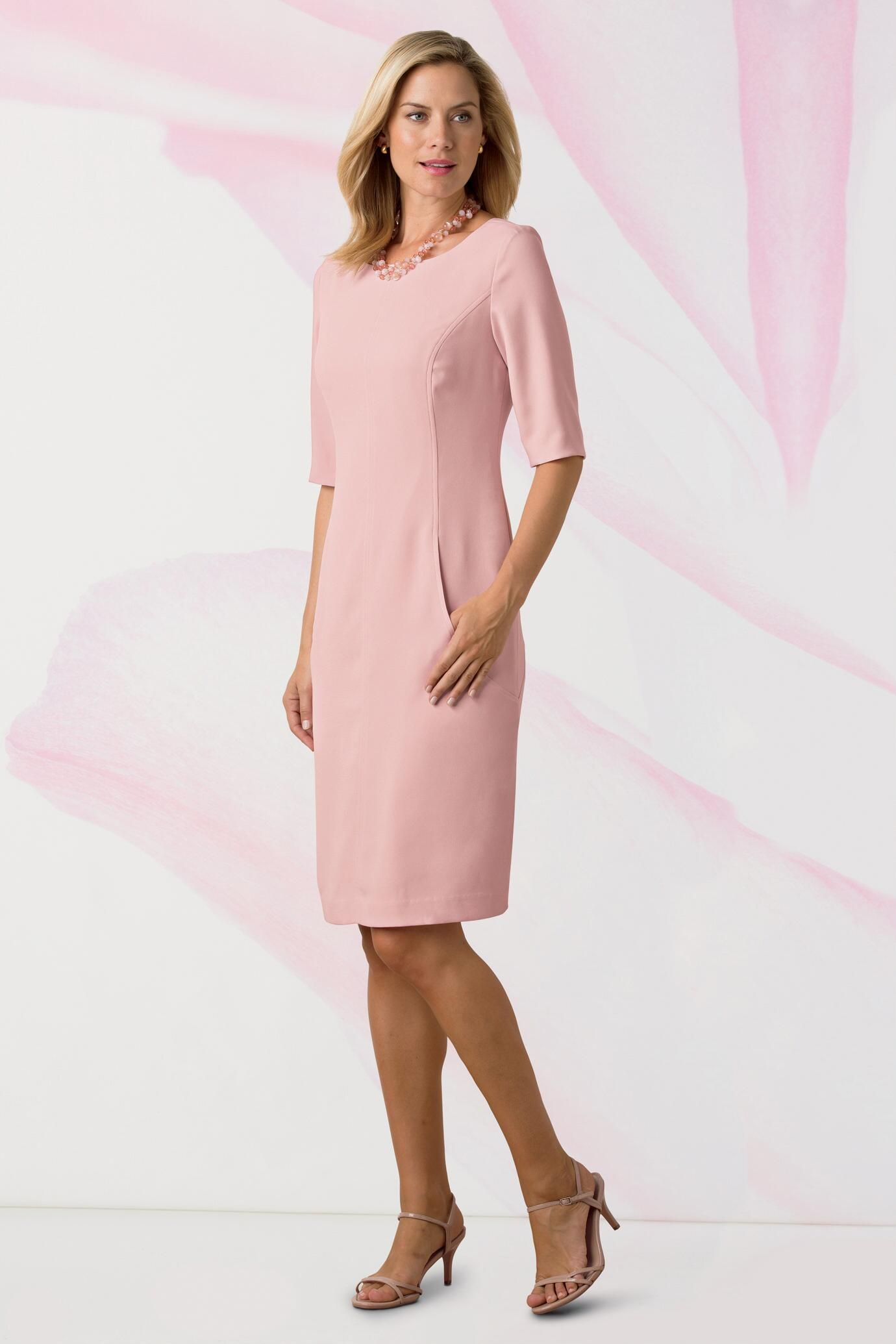 Sheath dresses for wedding guest  Elbow Sleeve Sheath Dress Classic Womenus Clothing from