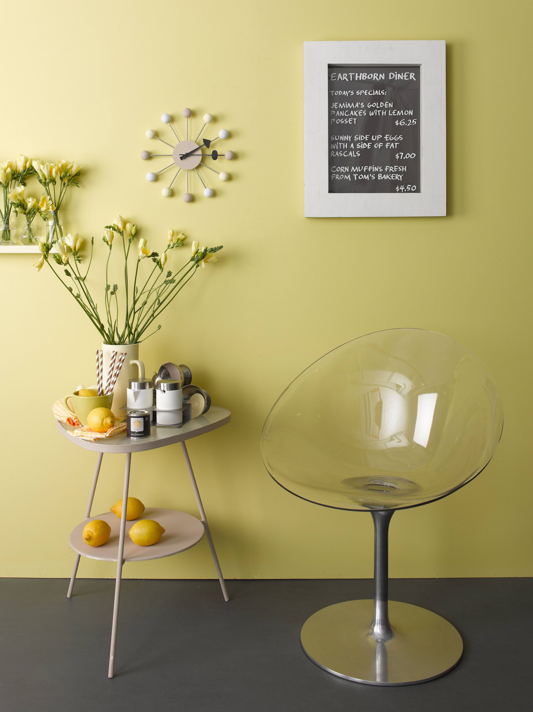 Daisy Chain yellow from the Earthborn paints 2013 colour card shot ...