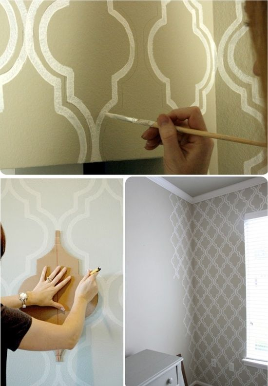 motif mur de peinture de bricolage sublime decor bricolage divers pinterest murs de. Black Bedroom Furniture Sets. Home Design Ideas