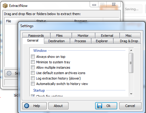 Extract Multipe Zip or RAR files in one Go with ExtractNow