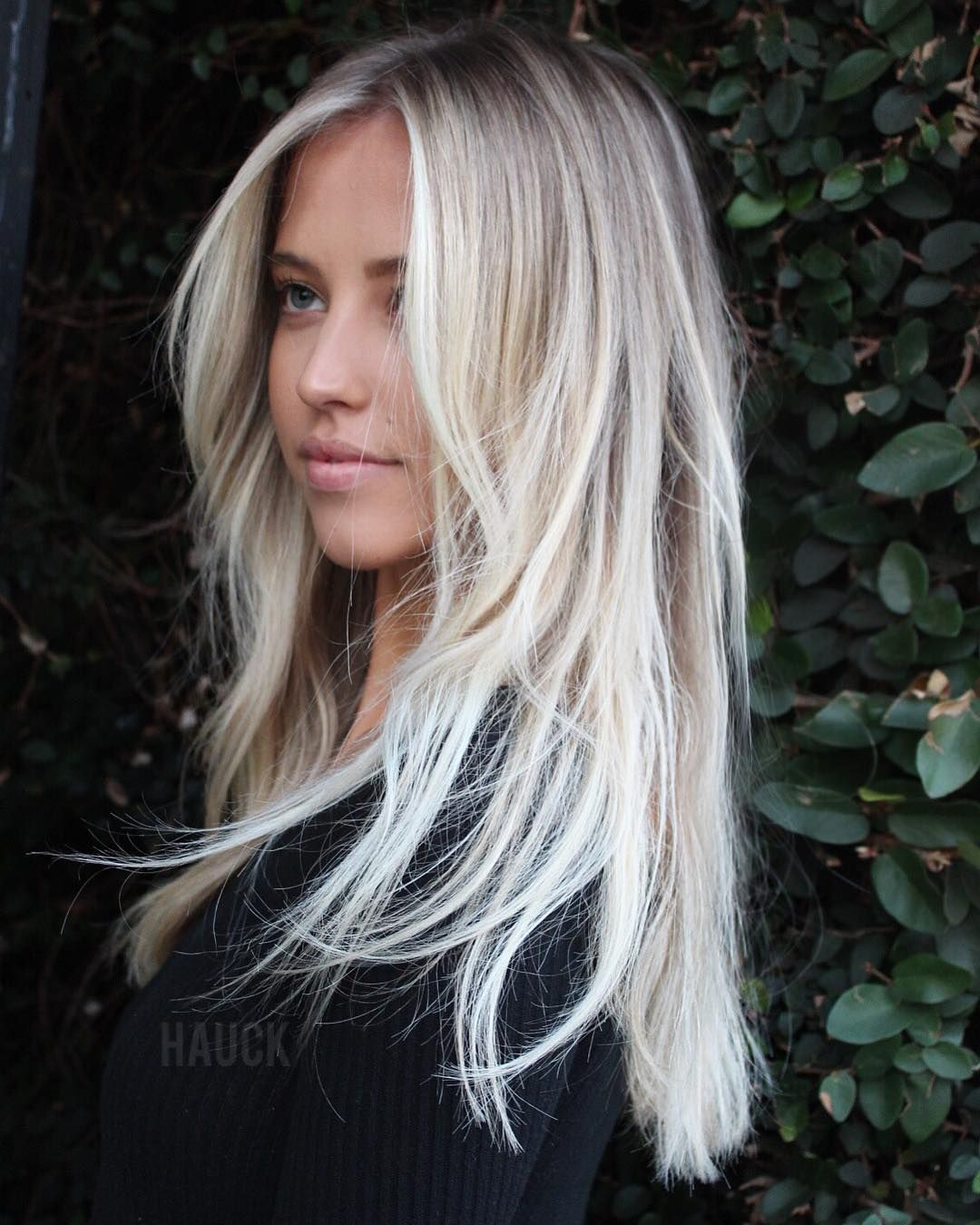 Image may contain: 1 person, closeup and outdoor #platinumblondehighlights