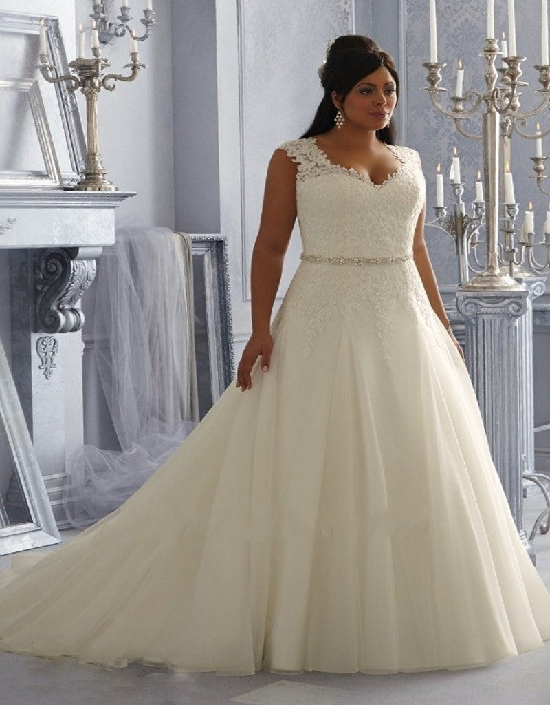 Mermaid plus size wedding dresses  Plus Size Wedding Dresses  New Lace Appliques Sexy See Through