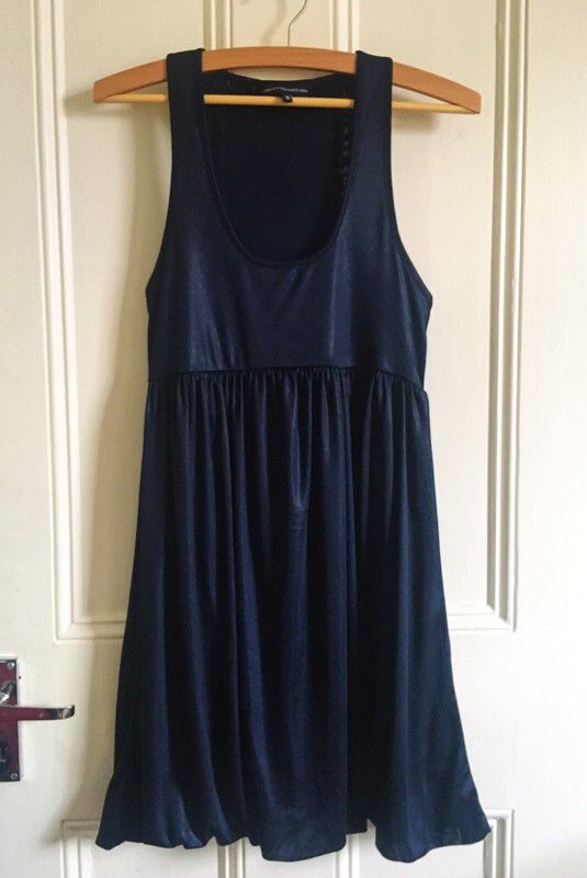 5635b73a28775 My Navy Satin Dress from French Connection by French Connection. Size 12 /  M for