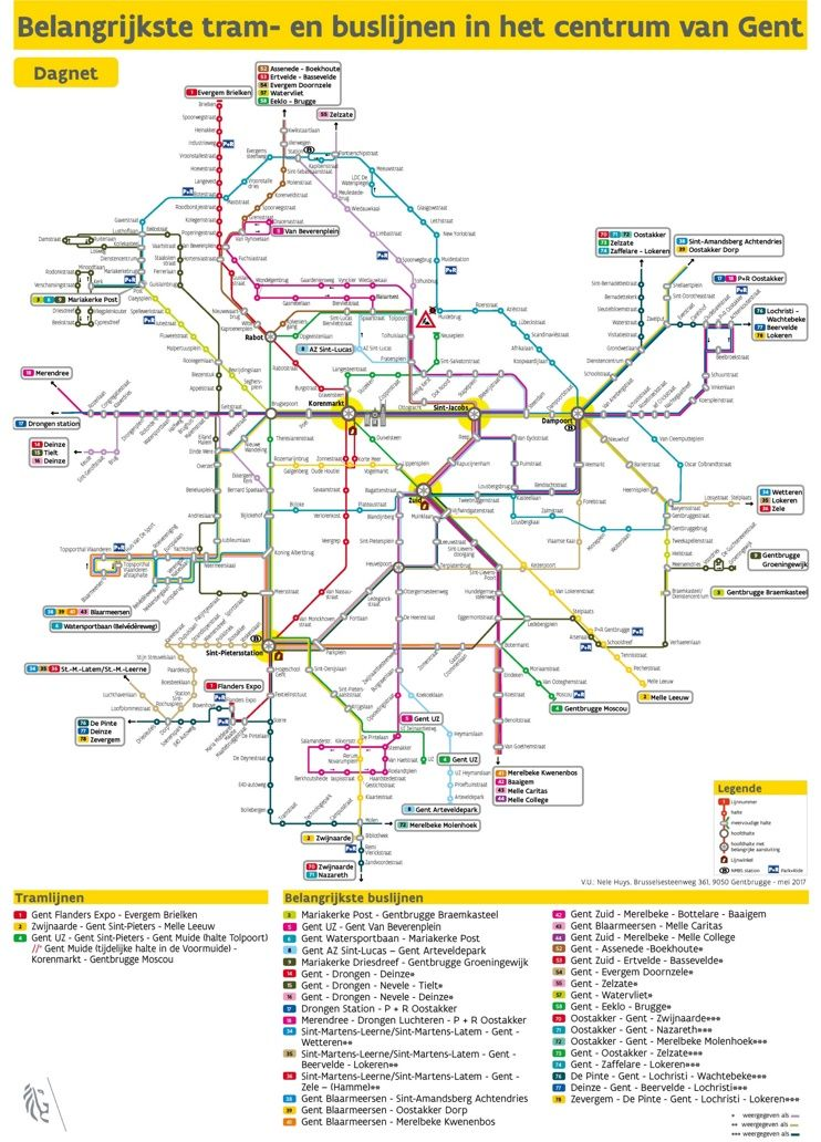 Ghent bus map | Maps | Pinterest | Bus map, Belgium and City