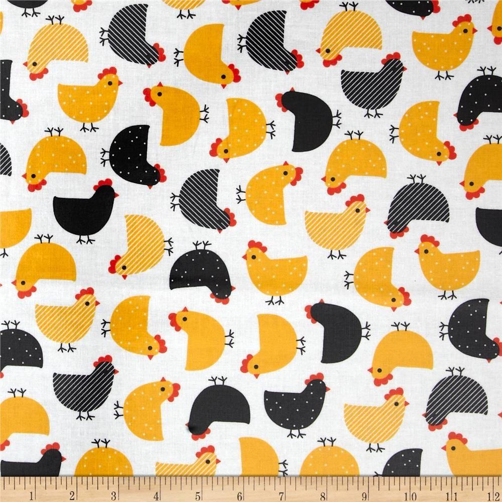 Robert Kaufman Urban Zoologie Slicker Laminated Cotton Chicks Fabric by The Yard