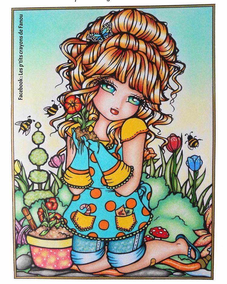 hannahlynn hannahlynnart whimsygirls coloriage coloring colouring - Coloring Or Colouring