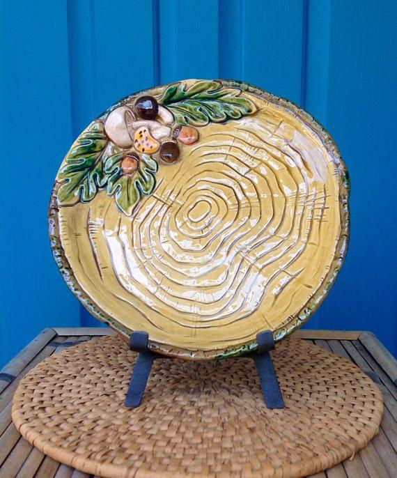Vintage Lefton Ceramic Mushroom Plate-Appetizer Plate-Wall Decor-Hippie-Kitchen Decor-Retro-Farmhouse-French Cottage-Boho & Vintage Lefton Ceramic Mushroom Plate-Appetizer Plate-Wall Decor ...