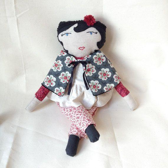 Folly Mae cloth doll / rag doll / OOAK gift by LittleFieldBirch
