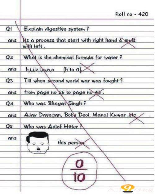 funny school papers