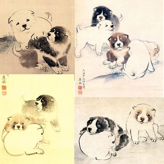 2014年3月13日 コロコロ フモフモ 江戸時代の絵師が描いたワンコたち 9選 By Pp 江戸時代の日本画家 浮世絵師が犬をモチーフに描 日本画 イラスト 中国の芸術