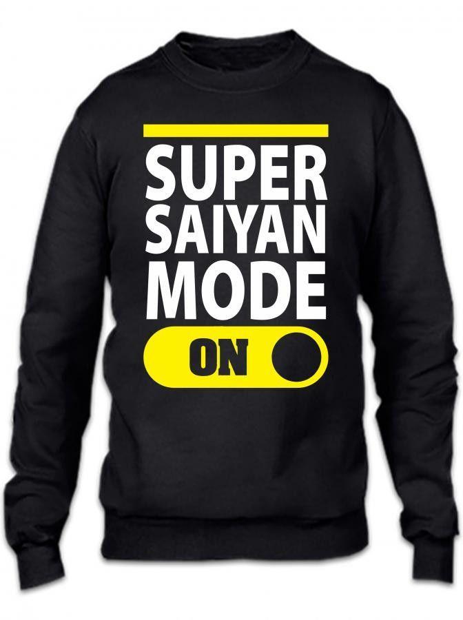 super saiyan mode on 1 Crewneck Sweatshirt
