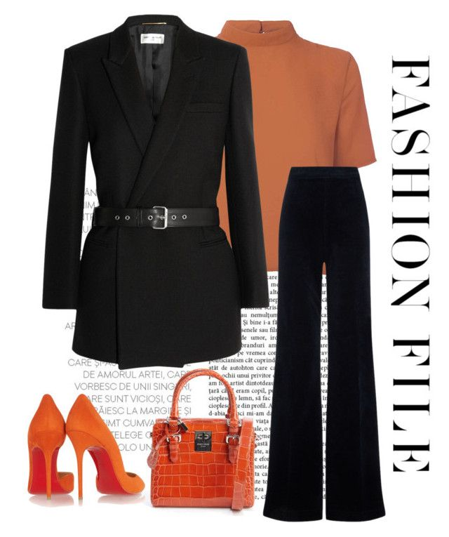 """""""Fashion File"""" by conch-lady ❤ liked on Polyvore featuring Giorgio Armani, Glamorous, Yves Saint Laurent, Christian Louboutin and AG Adriano Goldschmied"""