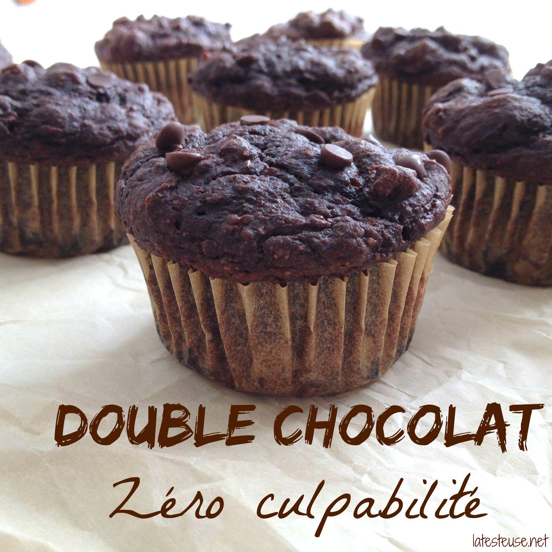 Muffin double chocolat Zéro culpabilité | Receta | Postres faciles, Recetas de comida y Desayuno ...