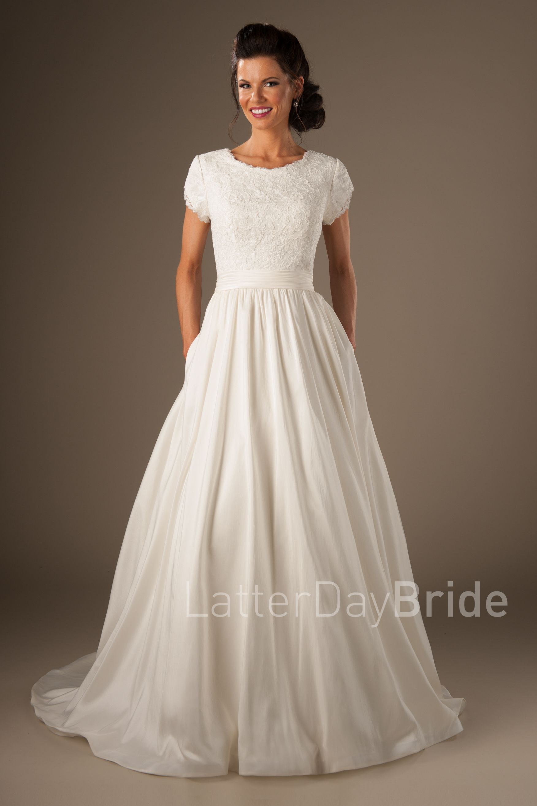 Plus size wedding dresses castleford - We Ve Combined Your Favorite Modest Wedding Dresses And Created The Joleen Fall Head Over Heels For The Darling Lace Top Cinched Taffeta At The Natural
