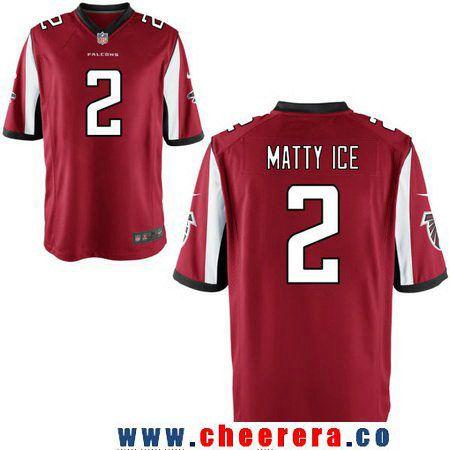 cc2944bfe ... Mens Atlanta Falcons 2 Matt Ryan Nickname Matty Ice Red Stitched NFL  Nike Elite Jersey ...