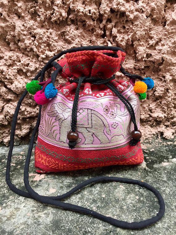 Aztec Bag pom pom Boho Cross body Festival Drawstring Purse - We ve got  something KOOL just 4 Boho-Chics! These literally go viral! Check them out!   -) 83b4a80ca8aca