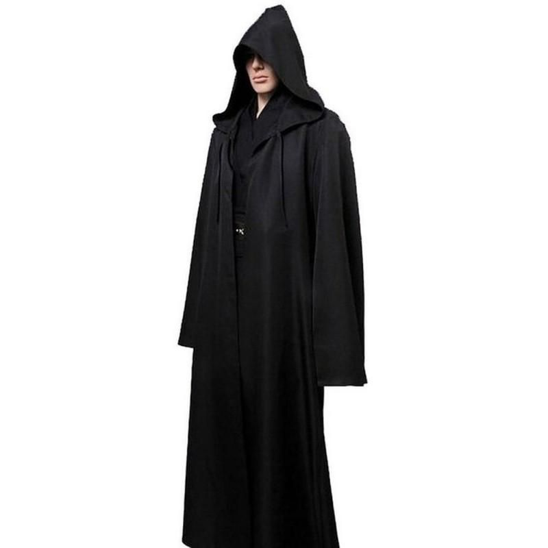 Black Men Cloak Cos Play Adult Hooded Robe Cloak Cape Halloween Costume  dc   starwars  marvel  popculture  toys  collectibles  actionfigures 3bc424224