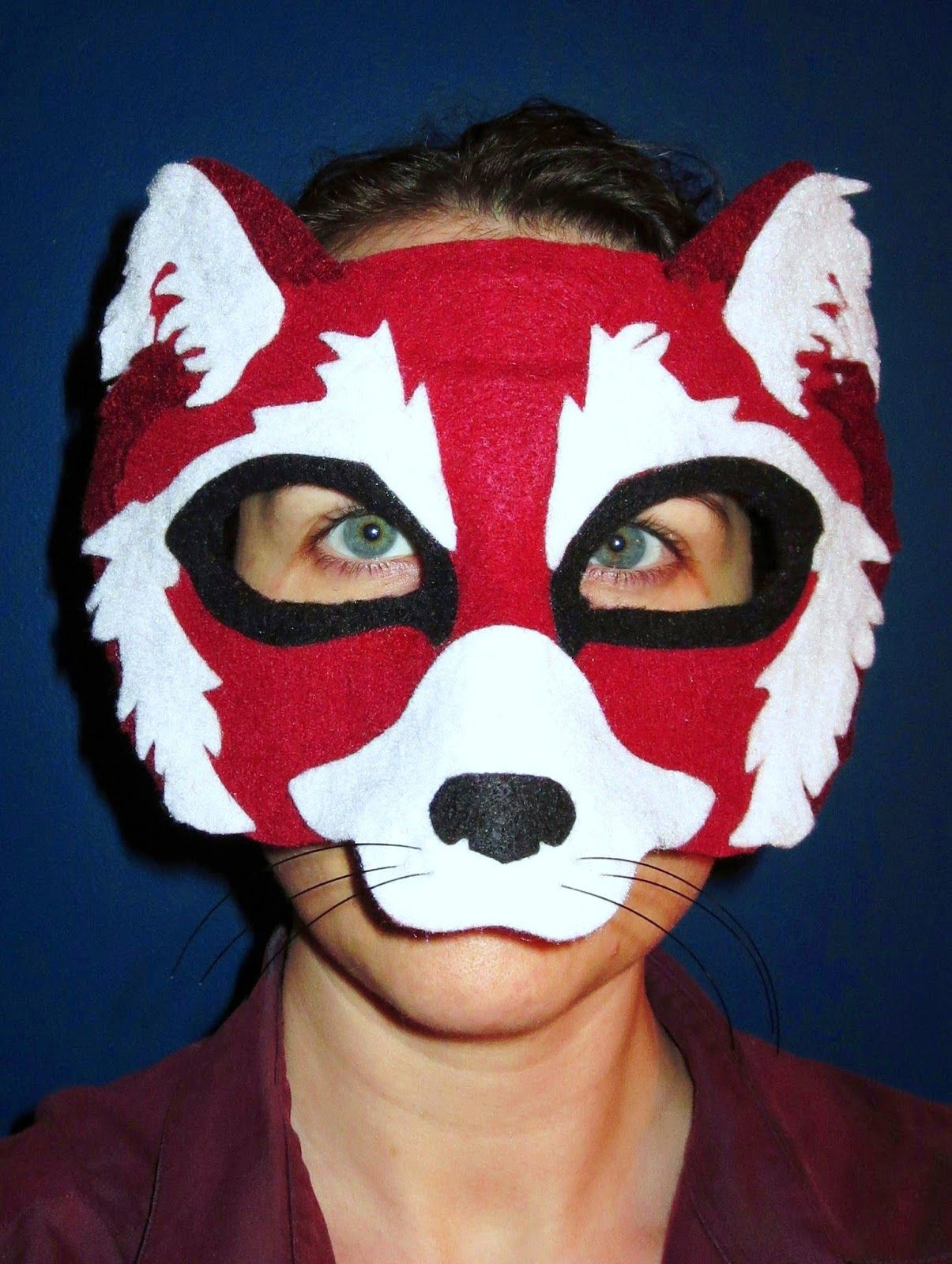 Diy Felt Red Panda Mask
