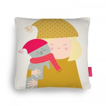 Cat Love Cushion - pretty pillows on ohhdeer by Lydia Coventry