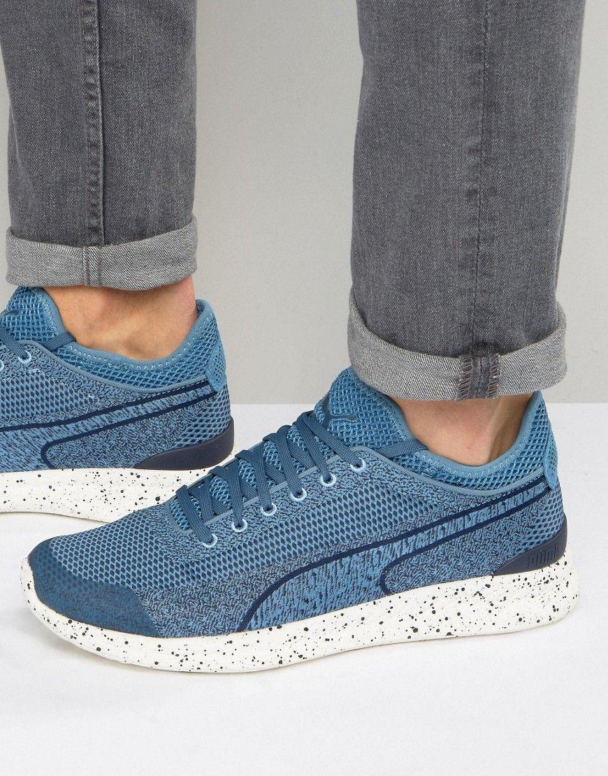 a6f1eb0a9615d3 PUMA IGNITE SOCK WOVEN SNEAKERS - BLUE.  puma  shoes
