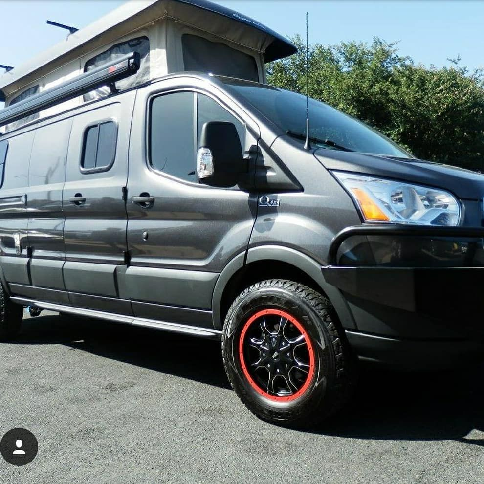 Sportsmobiletexas Is Popping The Top On These Ford Transit Builds With 4x4 Quigley Conversions And Ford Transit Transitional Bathroom Decor Transitional Decor