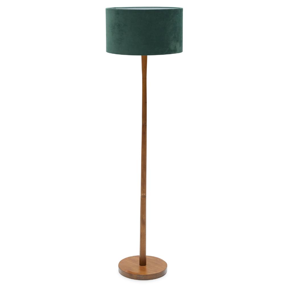Home in 2020 Wood floor lamp, Floor lamp, Green lamp shade