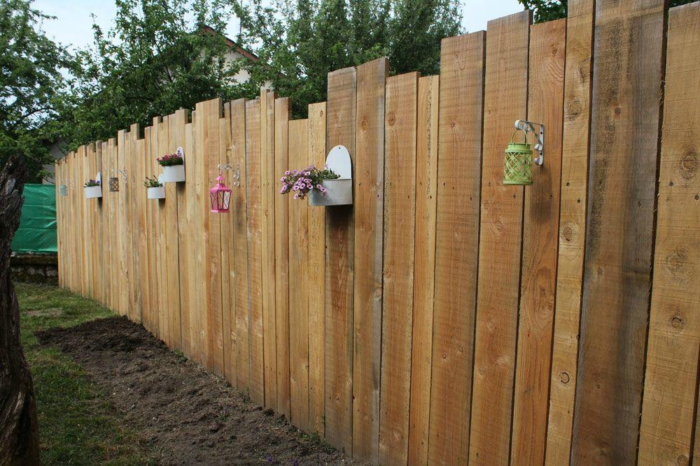 palissade jardin cloture jardin bois