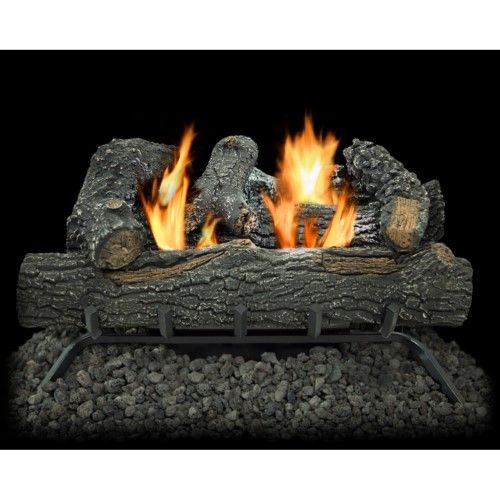 Kozy World Dual Fuel Gas Log Set | Gas log sets, Log home ...