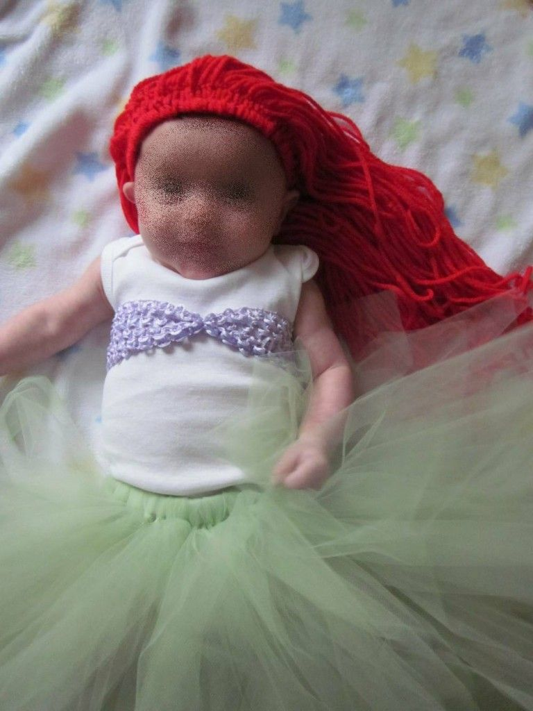 DIY Ariel Costume, Little Mermaid, Infant or Child, No Sew ...