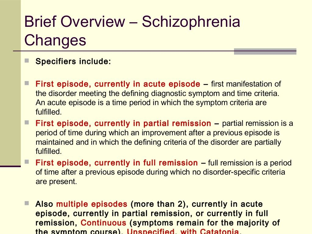 changes in the dsm 5 The american psychiatric association (apa) is considering five revisions to the  dsm-5 following the first use of a new process that allows any.