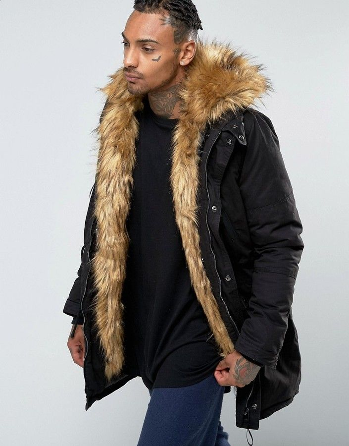 9f05383546f18 Sixth June Parka With Faux Fur Hood And Lining