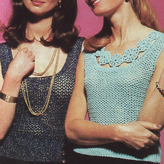 Vintage summer vest top crochet pattern