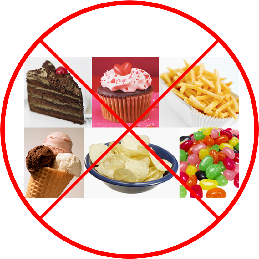 say no to junk food - causes of extreme tiredness and weakness