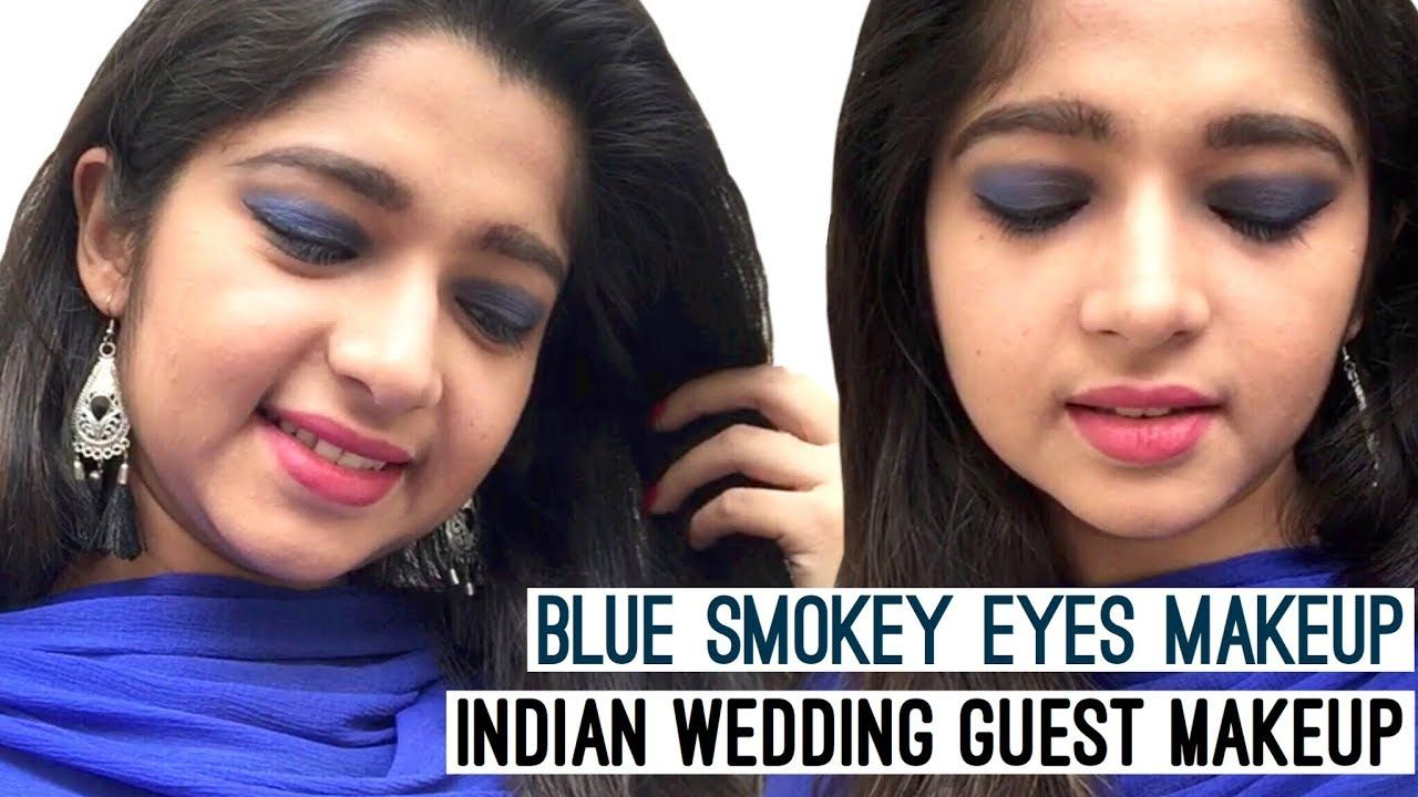 Blue Smokey Eyes Makeup Tutorial Wedding Guest Makeup Smokey Eye