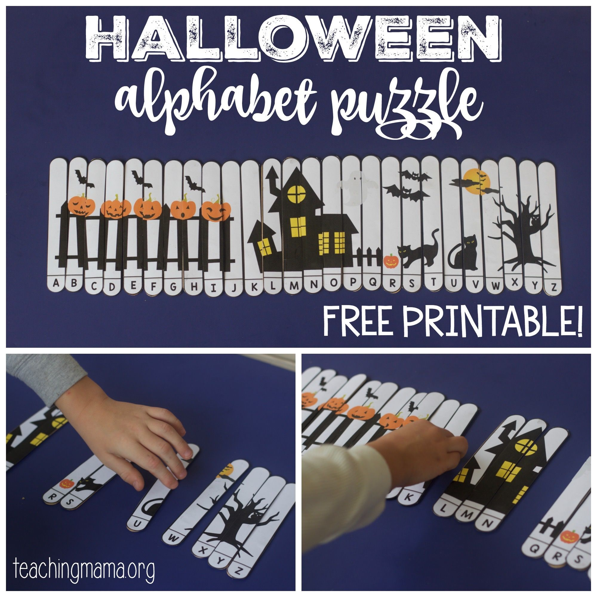 Halloween Alphabet Puzzle School