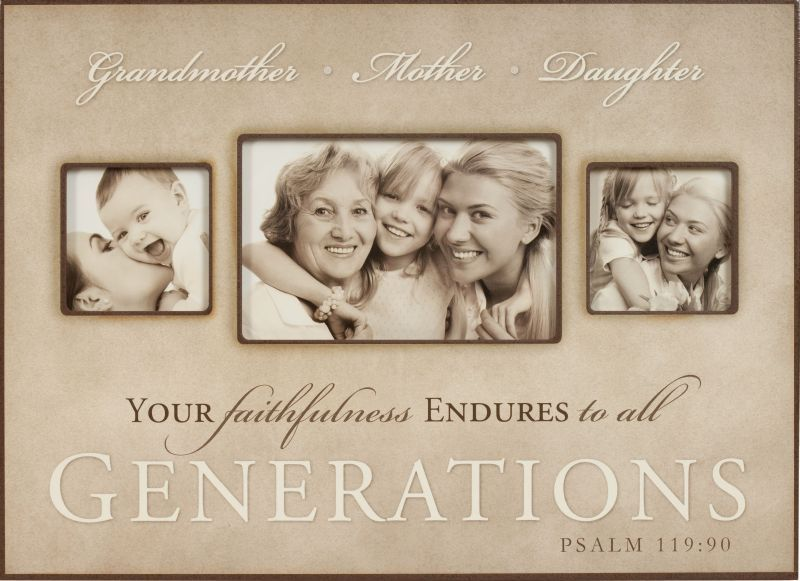 3 generations grandmother mother daughter photo frame 3300