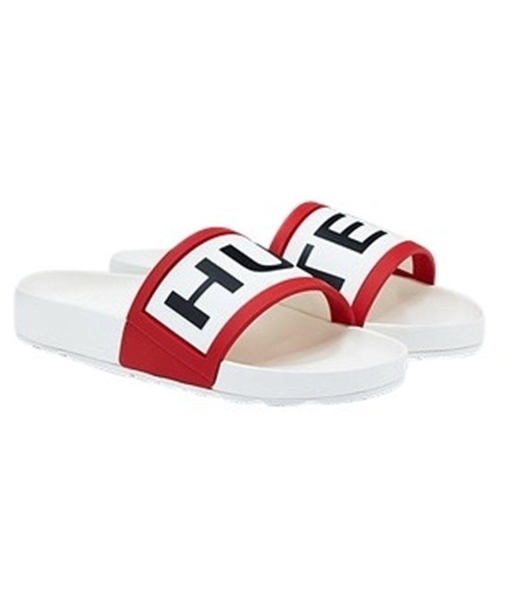 Men's Hunter Slider Sandals in white