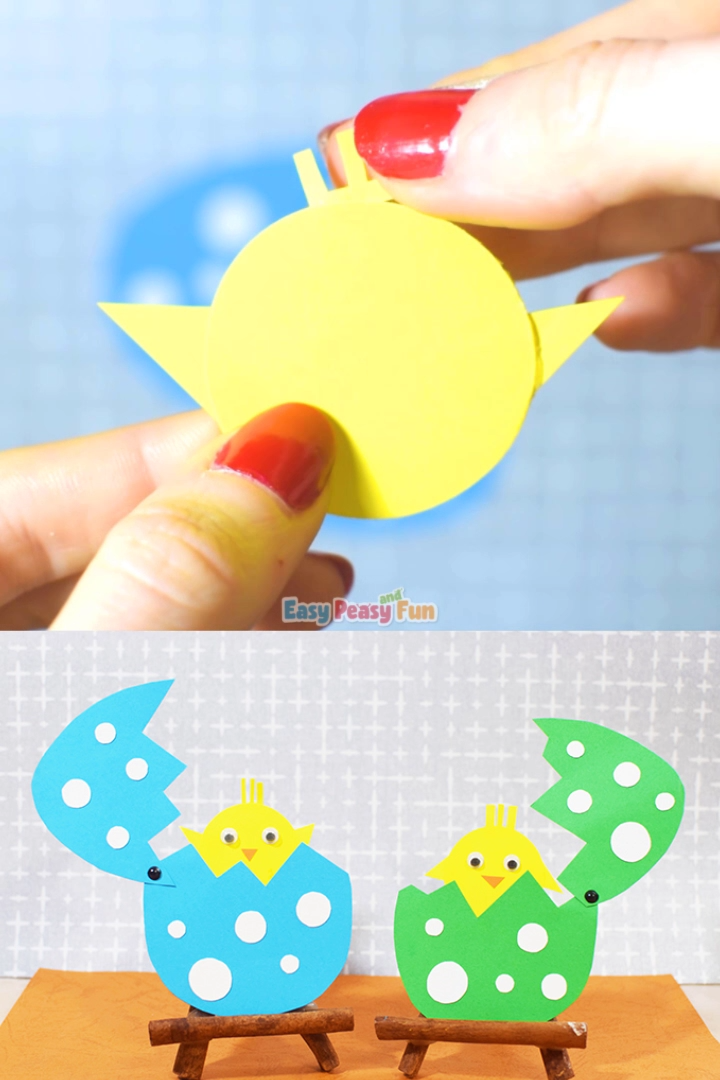 Easter Hatching Chick Paper Craft for Kids#chick #craft #easter #hatching #kids #paper
