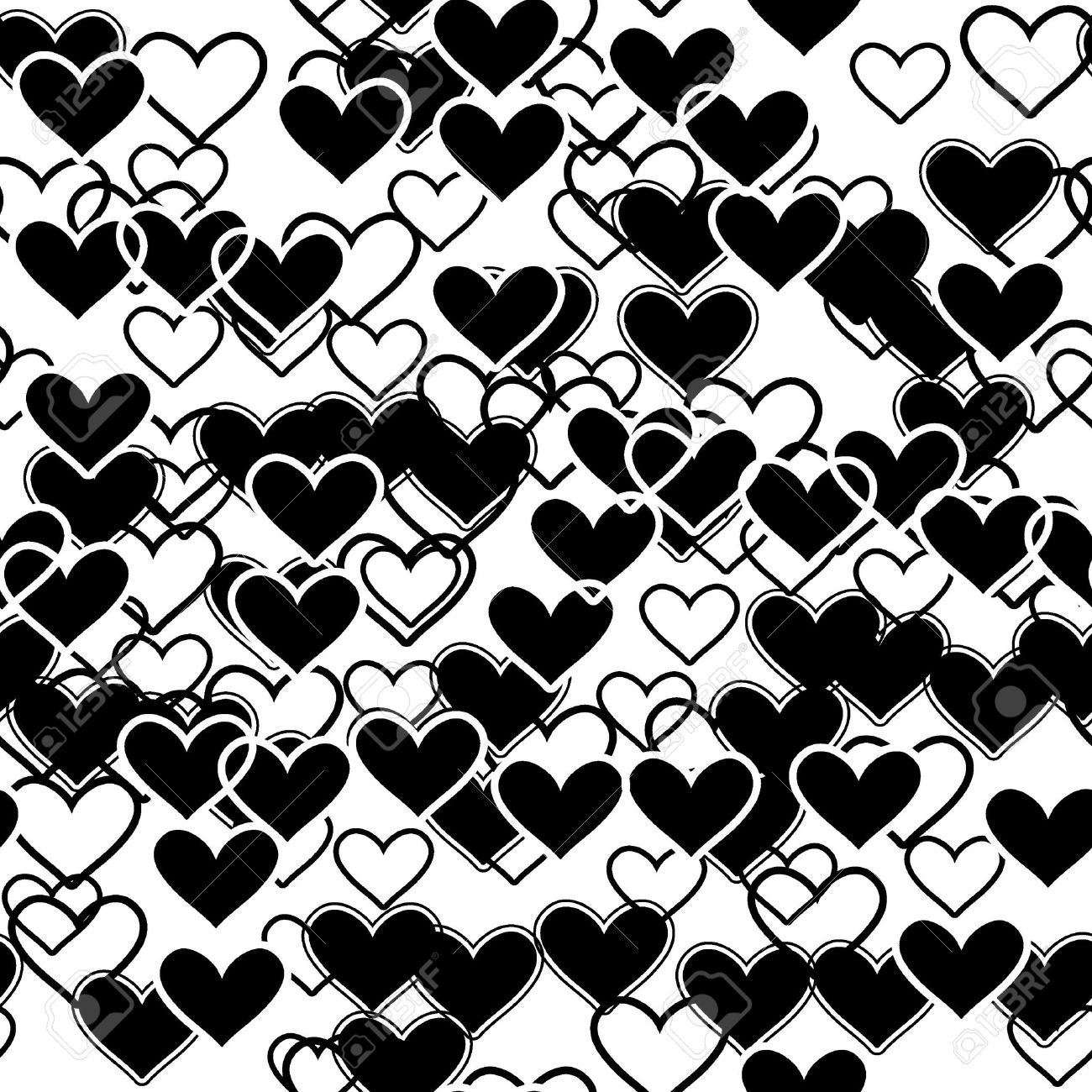 Papel decorativo blanco y negro de corazones buscar con - Papel pintado blanco y negro ...