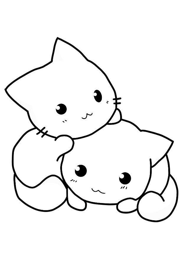 Dibujos Para Colorear Fáciles De Dibujar Y Pintar Imágenes Totales Rhpinterest: Chibi Cats Coloring Pages At Baymontmadison.com