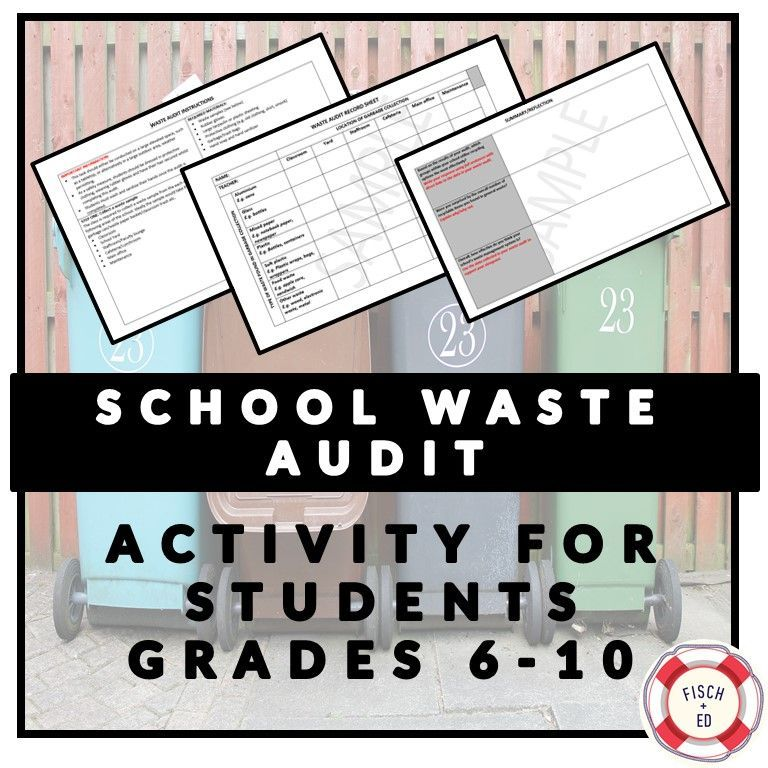 School waste audit activity sustainability and environment Upper