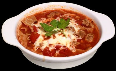 Lowfat lasagna soup with all the taste