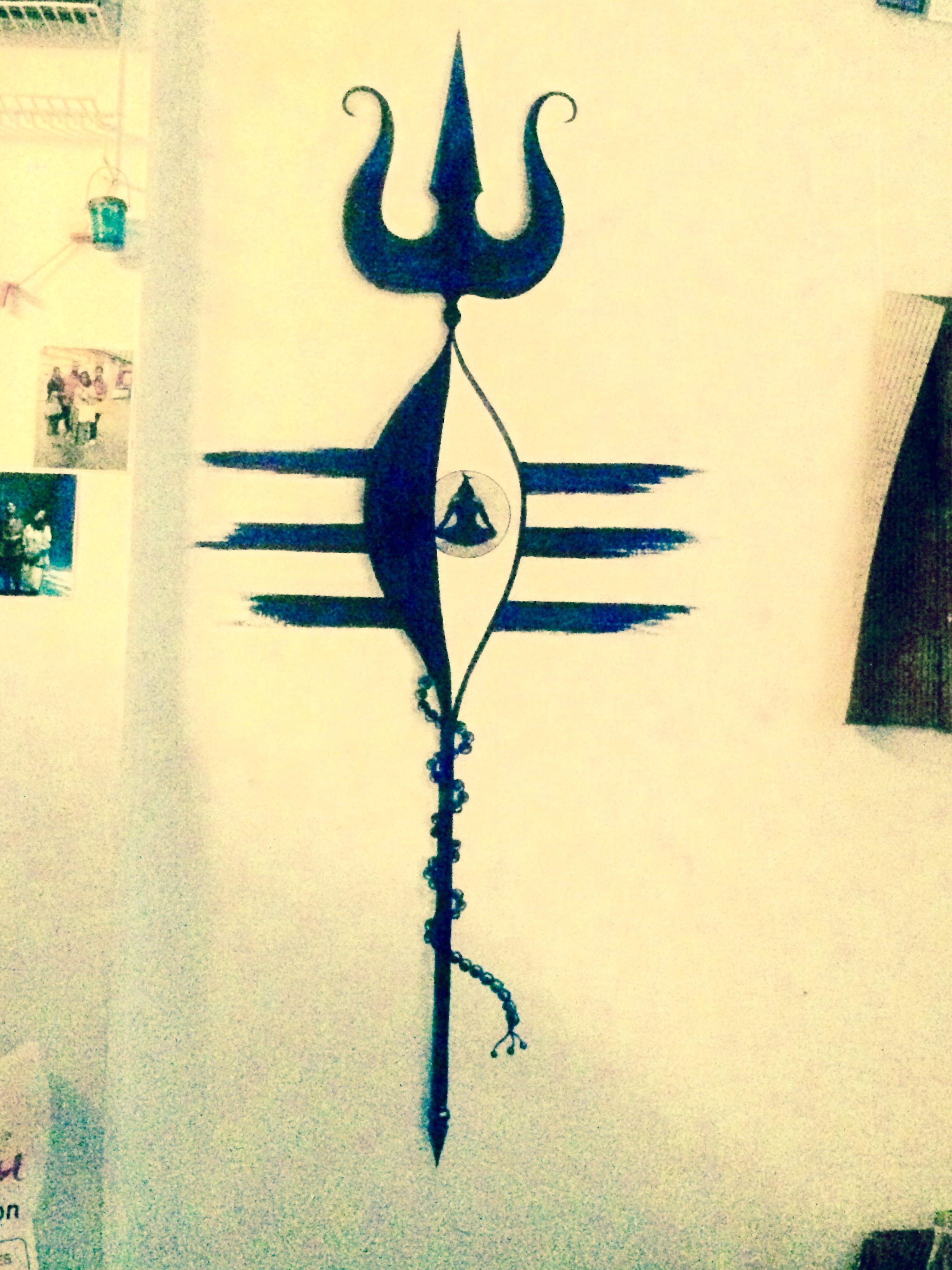 Wall painting Lord shiva By Ankita Dhar | artship | Pinterest | Lord ...
