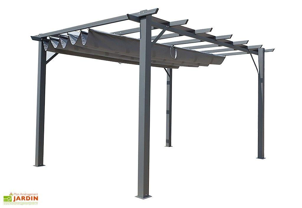 Pergola Mixte Aluminium Acier 400x300 Construction
