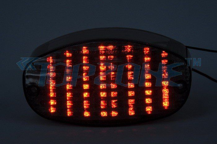 Led Motorcycle Tail Light Integrated Turn Signal For Yamaha
