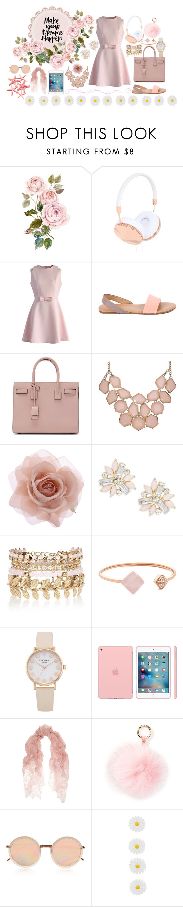 """The dreamer"" by sillytan ❤ liked on Polyvore featuring мода, Frends, Chicwish, Tkees, Yves Saint Laurent, Accessorize, Cara, River Island, Michael Kors и Valentino"