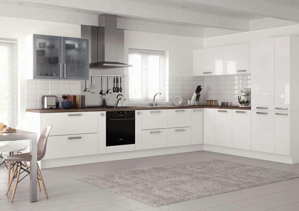 kitchen ideaspacious  white gloss kitchen kitchen